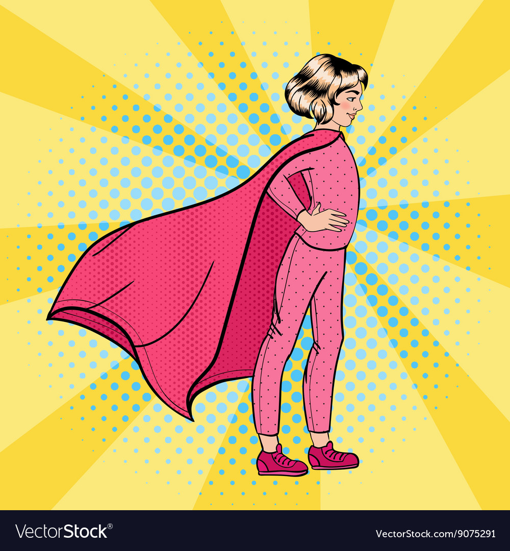 Super girl girl super hero supergirl standing vector