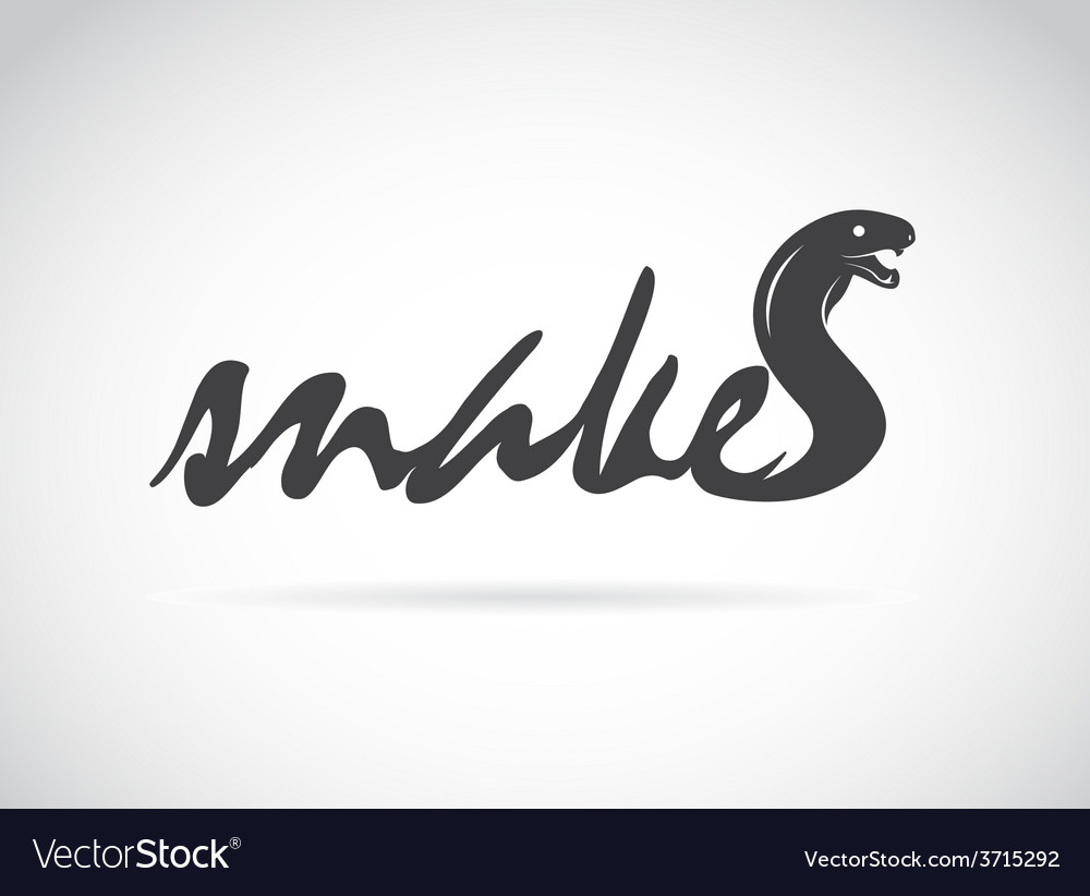 Design snake is text vector