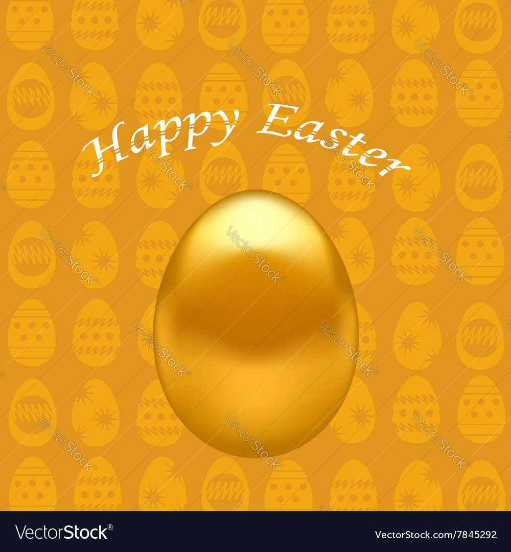Gold easter eggs vector