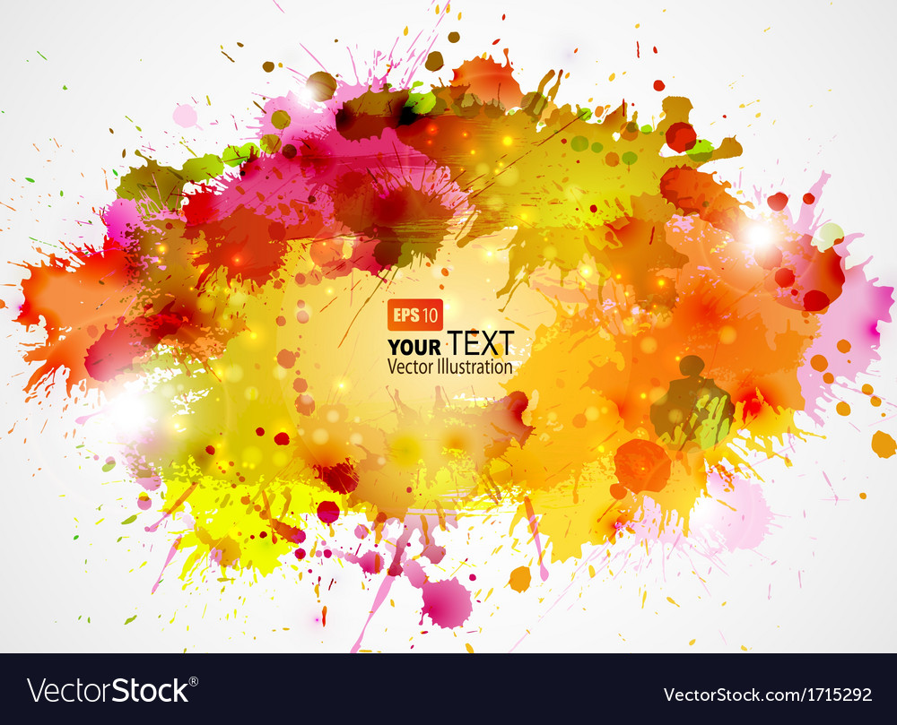 Orange blots vector