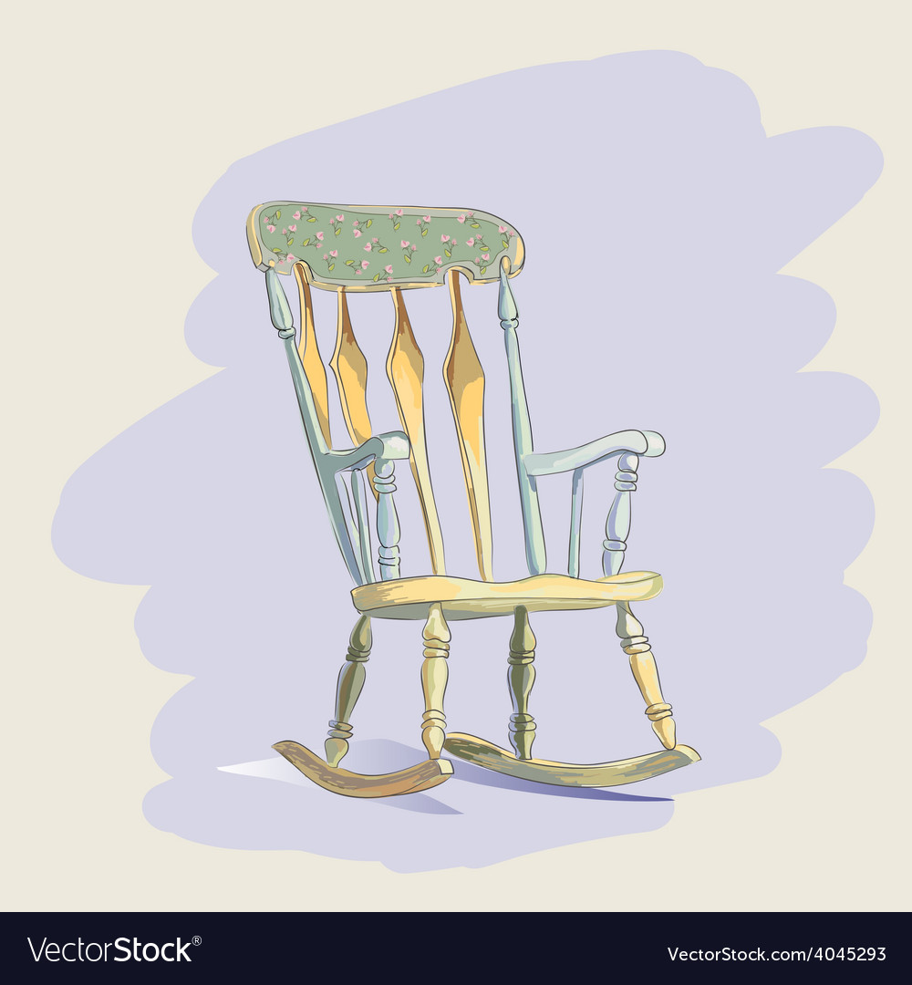 Vintage rocking chair vector