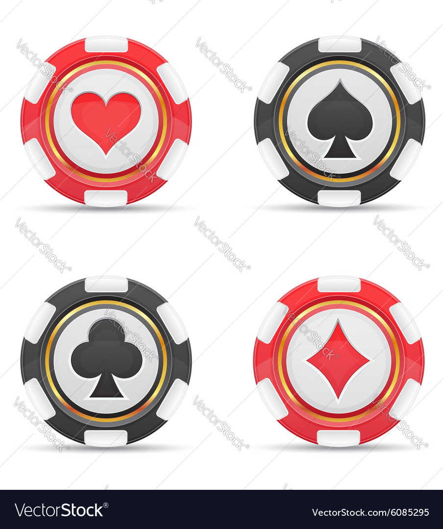 Casino chips 02 vector