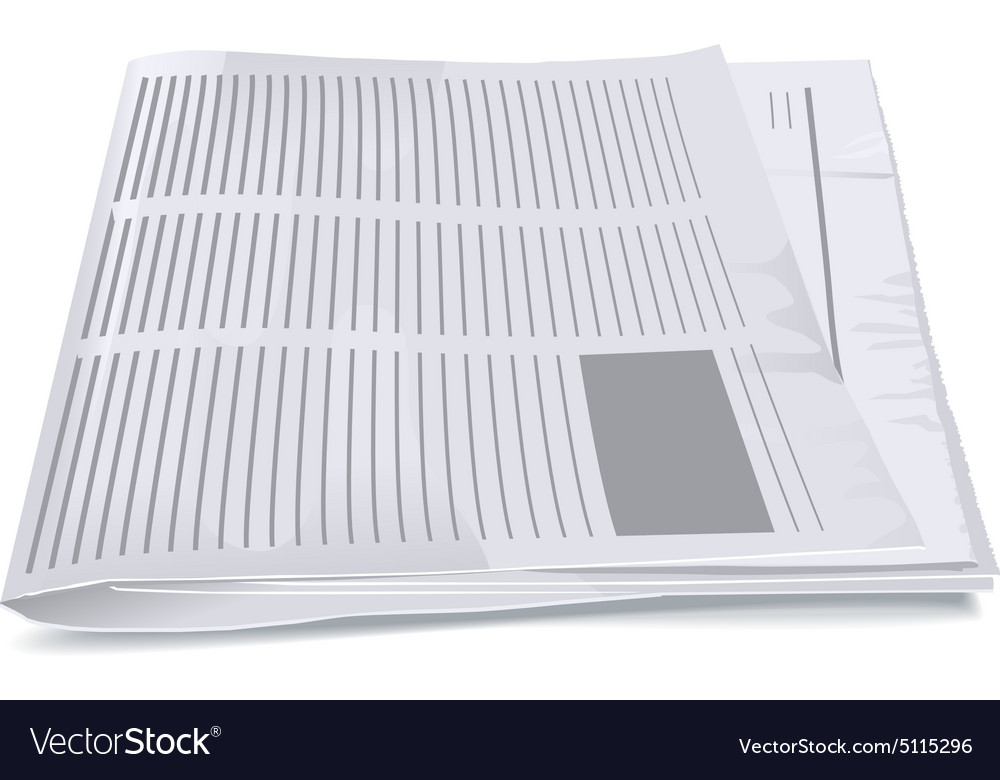 Folded newspaper tabloid vector