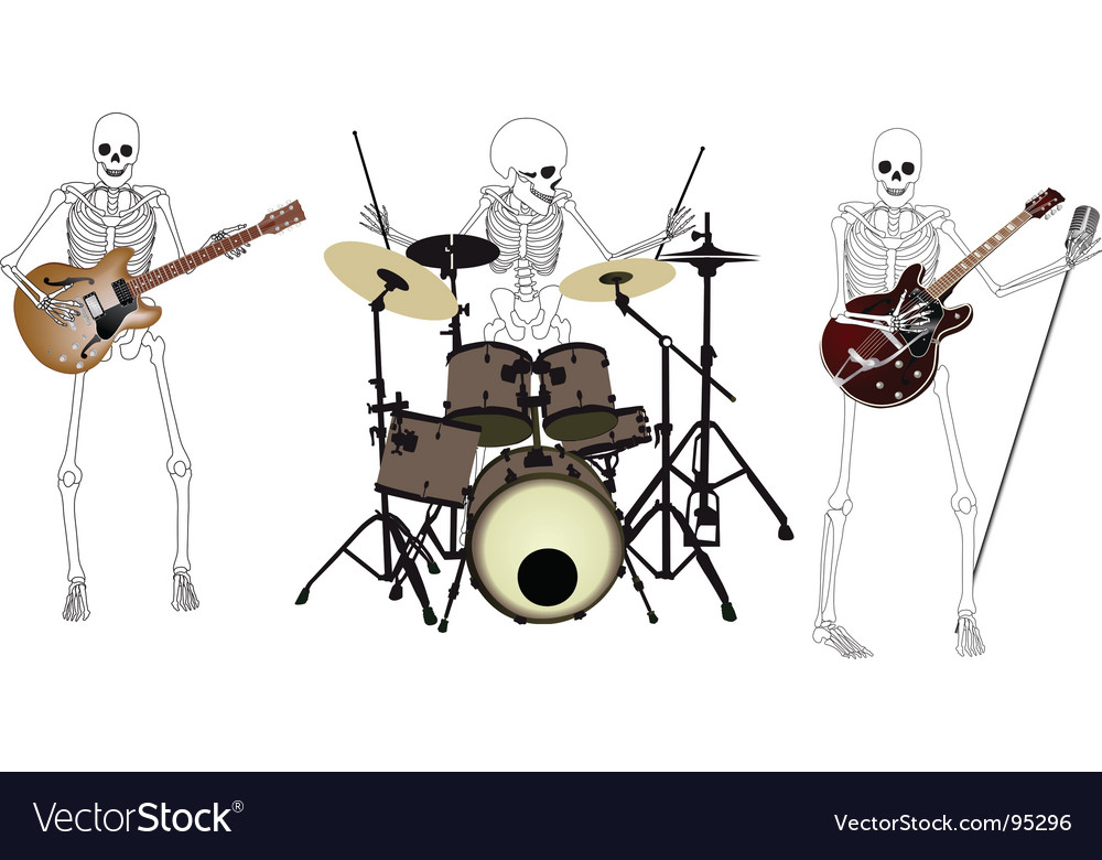 Skeleton band vector