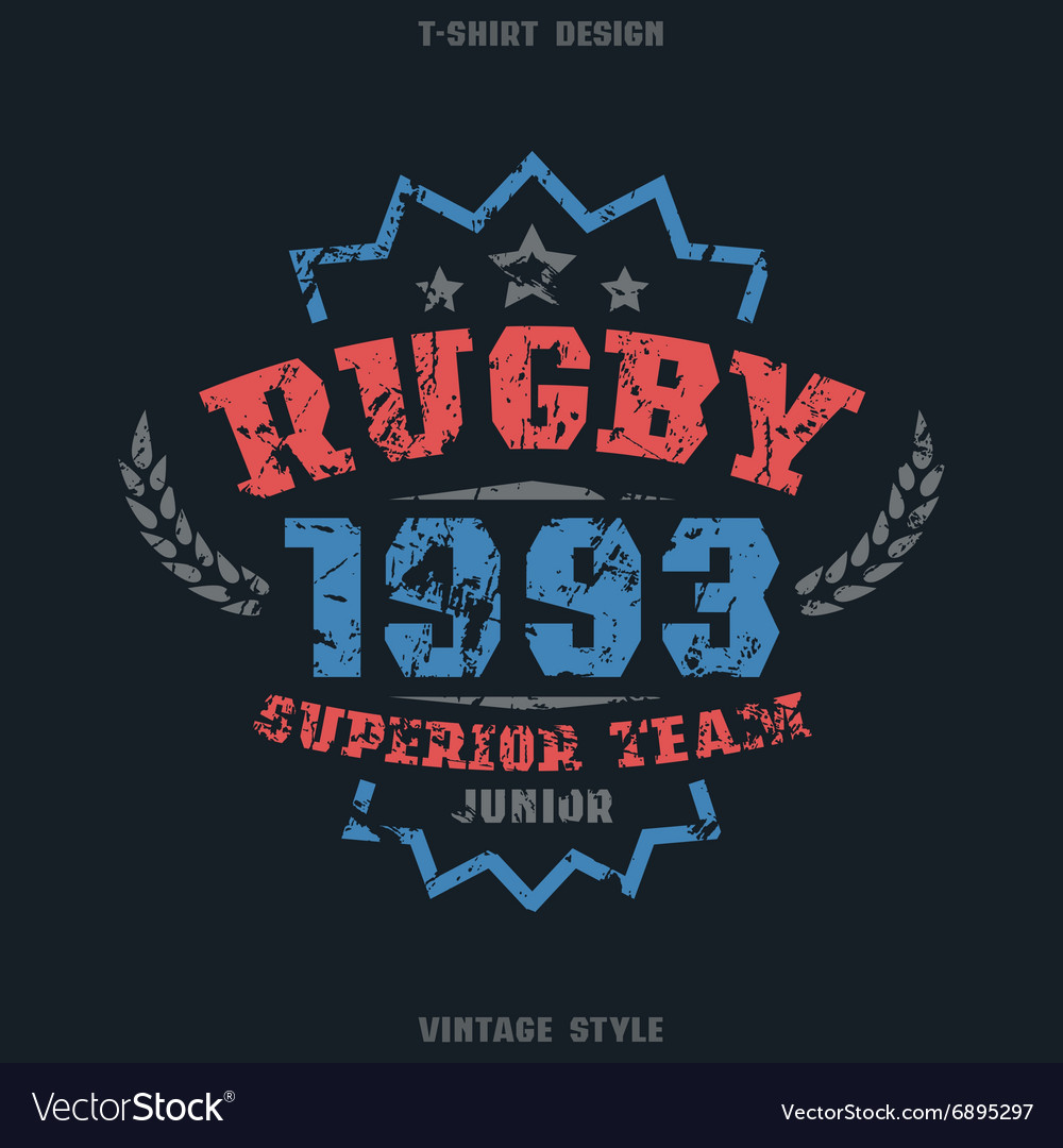 Rugby team emblem vector