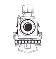 steam locomotive vehicle vector image