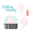Cotton candy set colorful constructor vector image