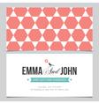 wedding card pattern 04 vector image vector image