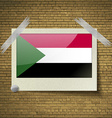 Flags Sudanat frame on a brick background vector image