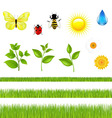 nature set with grass vector image vector image