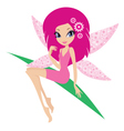 fairy on a white background vector image vector image