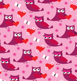 owl valentine pattern vector image