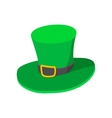 St Patricks Day hat cartoon icon vector image