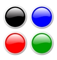 buttons set color vector image