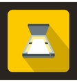 Open scanner icon flat style vector image