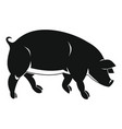 black pig in simple style vector image