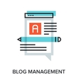 blog management vector image