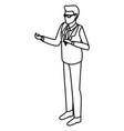 businessman cartoon isolated vector image