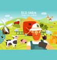 eco farm composition vector image