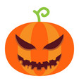 halloween pumpkin flat icon halloween and scary vector image