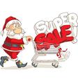 Santa Claus Super Sale Cartoon vector image
