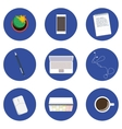 Set of icons for business in flat design vector image