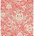 White and pink seamless pattern in Russian style vector image