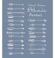 Collection of ethnic arrows hand-drawn for your vector image