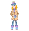 Nice young girl in winter wear vector image vector image