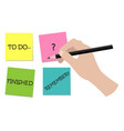 business planning to do administration vector image
