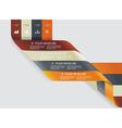 Modern spiral infographics options banner vector image