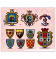 heraldic elements vector image