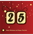 25 december day vector image
