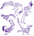 bird tattoo vector image vector image