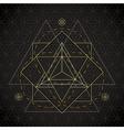 merkaba outline flower of life sacred geometry vector image