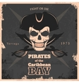 Pirates Of Carribbean Bay Vintage Poster vector image vector image