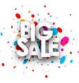 Big sale paper poster vector image