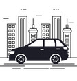 car vehicle in the cityscape vector image
