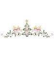 Christmas tree mistletoe vector image