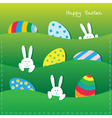 Easter paper card vector image