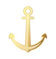 golden anchor icon vector image