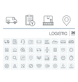 Logistic and distribution icons vector image