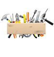 Board with Tools vector image