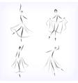 Set of symbolic ballet dancers vector image