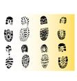Single black fingerprint - simple monochrome image vector image vector image