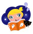 halloween story book vector image vector image