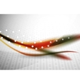 Colorful wave line abstract background with light vector image vector image