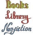 Books Library Non-fiction vector image