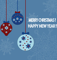 Happy new year card background vector image