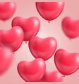 hearts balloon realistic vector image